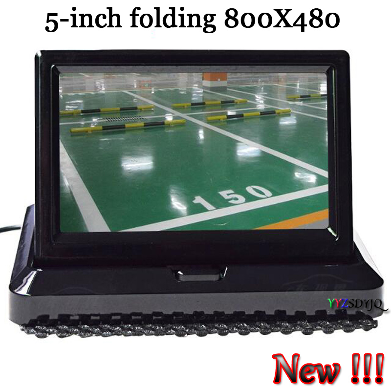 New !!! 5 Inch 800 x 480 TFT LCD Rearview Fold Monitor Vehicle Dashboard Monitor for Backup Car