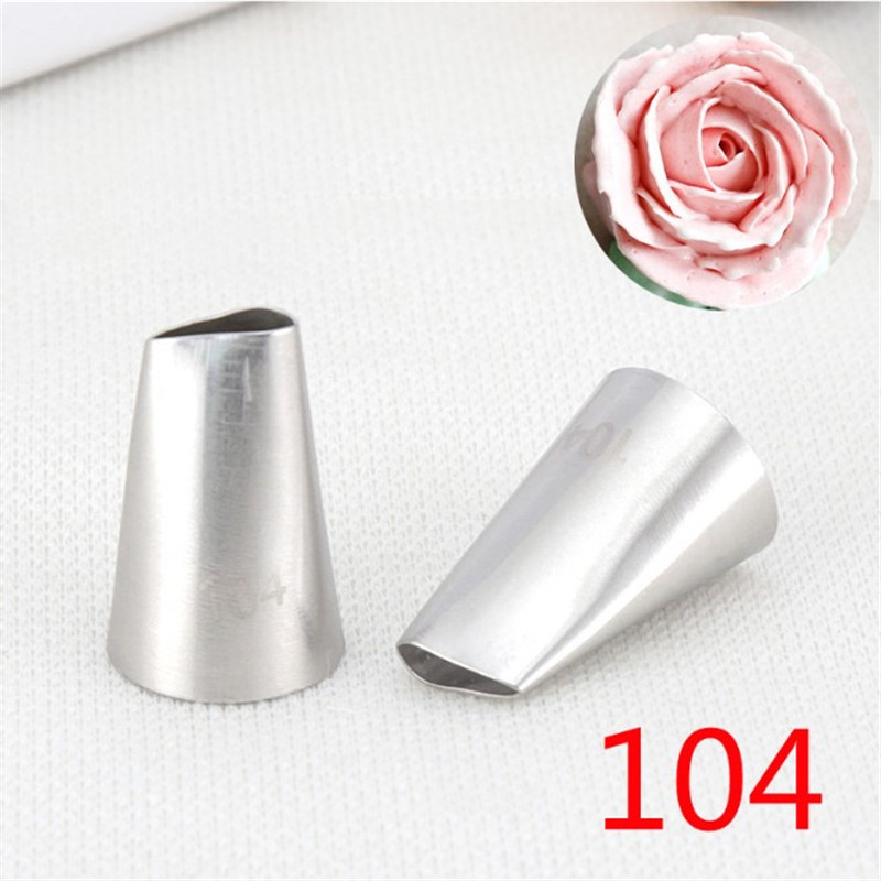 TTLIFE Rose Petal 304 Stainless Steel Pastry Nozzles DIY Cake Decorating Piping Nozzles Fondant Cupcake Icing Tools #104