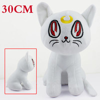 Kawaii Sailor Moon Cat Luna Plush Doll For Kids Toy Gift 12 Anime Stuffed Toys White