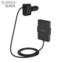 ORICO 5 Порты USB Автомобильное Зарядное устройство Quick Charge 3.0 мобильный телефон автомобиль Зарядное устройство адаптер для iPhone 7 6S Samsung xiaomi автом...