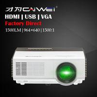 CAIWEI 1080p Video Game Mini Standard Home LCD Projector Portable Theater Cinema Movie HDMI VGA USB TV