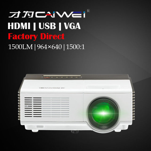 Cheap CAIWEI Portable Mini Standard  LCD Projector LED Beamer Proyector Home Theater Cinema Movie Video Game Support HD 1080p