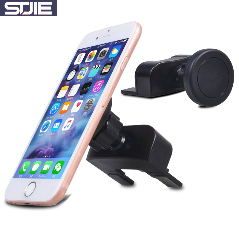 STJIE universal magnetic holder two use strong magnet car air vent CD slot stand holder for iphone mobile phone accessories