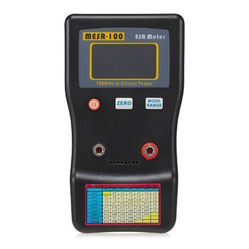 THGS MESR-100 Auto Ranging in Circuit ESR Capacitor / Low Ohm Meter Up to 0.001 to 100R, Support in Circuit Testing Black+Orange center 221 auto ranging low cost pocket clamp meter