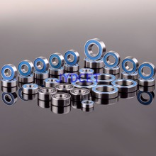 Blue Ball Bearing 33PCS KIT Metric Rubber Sealed on Two Sides RC Car For RC Traxxas E Revo Racing 52100 Chrome Steel