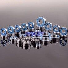 Rolamento de esferas azul 33 pces kit de borracha métrica selado em dois lados rc carro para rc traxxas e revo racing 52100 aço cromado