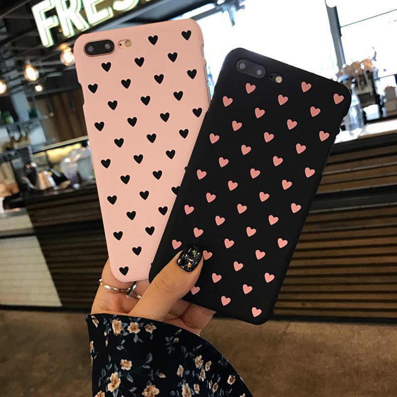 Сердце мобильный телефон чехол для iPhone 6 6s 7 8 плюс 5 5S SE X XR XS Max Love элемент Стиль чехол для девочек женские матовые задняя крышка