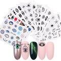 1 шт., наклейки для ногтей с мультяшными глазами, переводные наклейки для ногтей, наклейки для ногтей DIY, маникюрный клей, Слайдеры для ногтей,...