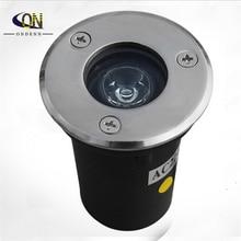 Прямая с фабрики 3 Вт светодиодный подземный светильник IP68 утопленный прожектор наружный светильник с AC85-265V DC12V