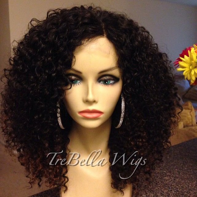 brazilian glueless full lace lace front afro kinky curly wig with