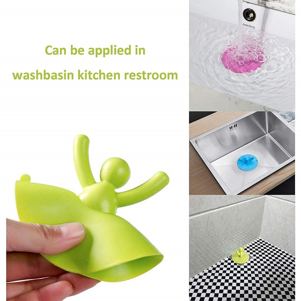 Details about  /Bath Stopper Silicone Drains Cover Hair Filter Sink Strainer Colander