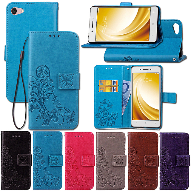 sale retailer c3ddc 3028a US $7.99 |Cover Mobile Phone Case For BBK VIVO Y53 Flip PU Leather Bag  Protection Holster Card Slot Wallet Hand Strap Design Holder Stand-in Flip  ...