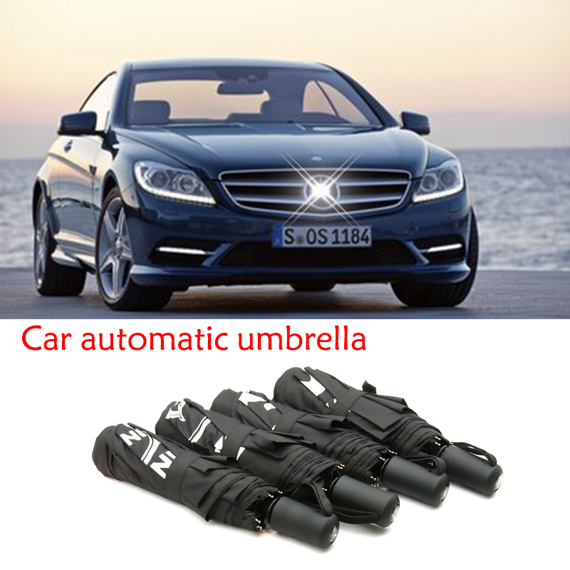 High Quality Umbrella Car Styling Logo Car Automatic Rain Umbrella For Mercedes Benz A/B/C/E/S/GLC/GLK/GLE Accessories W204 W205