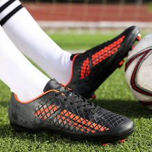 Homens Chuteiras Sapatos de Futsal de Futebol Profissional Tênis Homem Botas  Pico de Futebol Chuteiras Bota 647fa72080d72