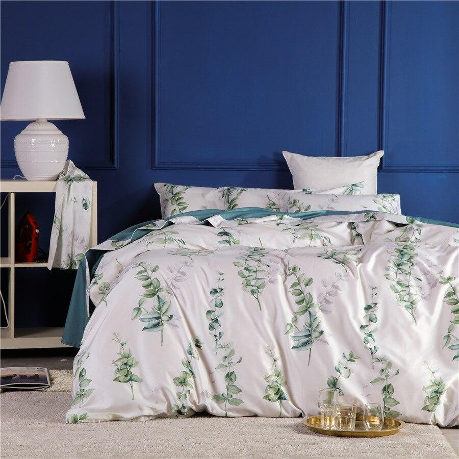CHAUSUB Sheets Bedding-Set Egyptian Cotton Duvet-Cover-Sets Satin Silk King Queen-Size
