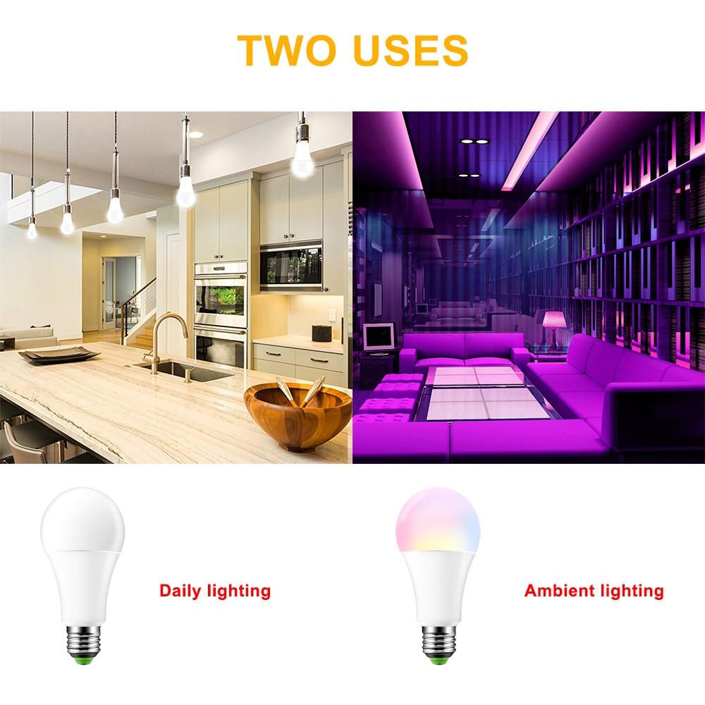E27 расположением выходов и 16 светодиодами изменение цвета цветная(RGB) светодиодная лампочка Magic 5/10/15 Вт 85-265V цветная(RGB) Светодиодная лампа Spotlight+ ИК-пульт дистанционного управления светодиодные лампы для дома
