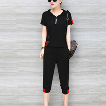 YICIYA black outfits sportswear co-ord set 2 piece tracksuits for women plus size top and pants suits 2019 summer clothing
