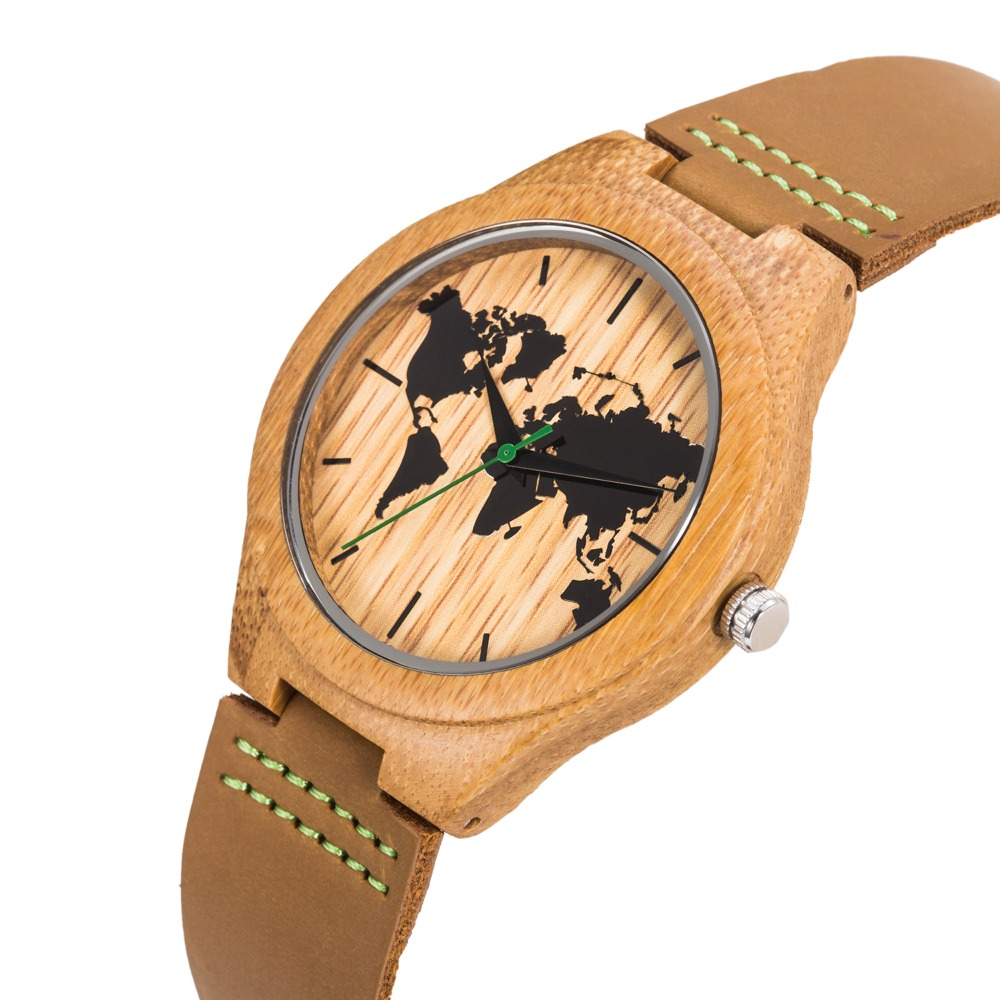 DROP SHIPPING Luxury Gifts Brand Watches Timepieces Bamboo Wooden Watches For Men And Women With Leather Strap Relogio Masculino