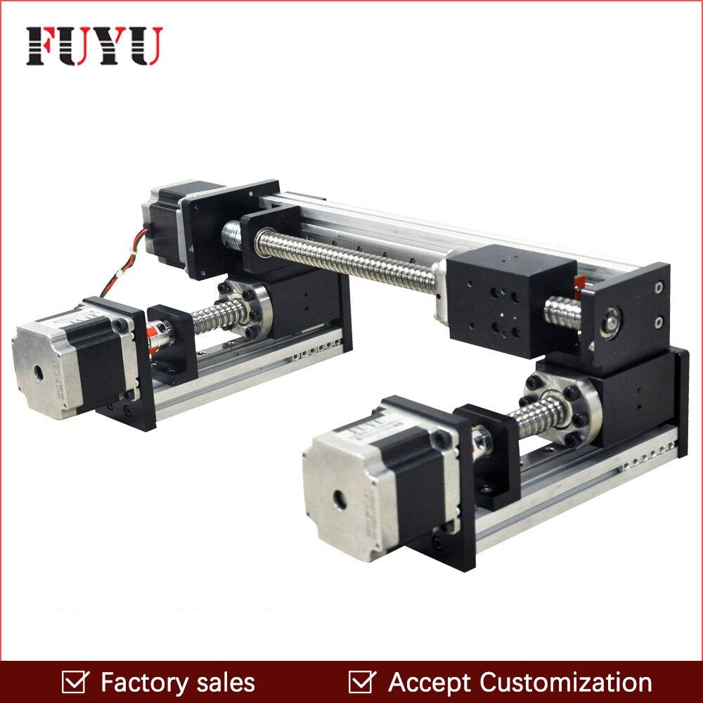 300*300mm Venta De fábrica tornillo de bola motorizado carril de guía lineal XY etapa de movimiento motor de mesa deslizante para grabado piezas de la máquina