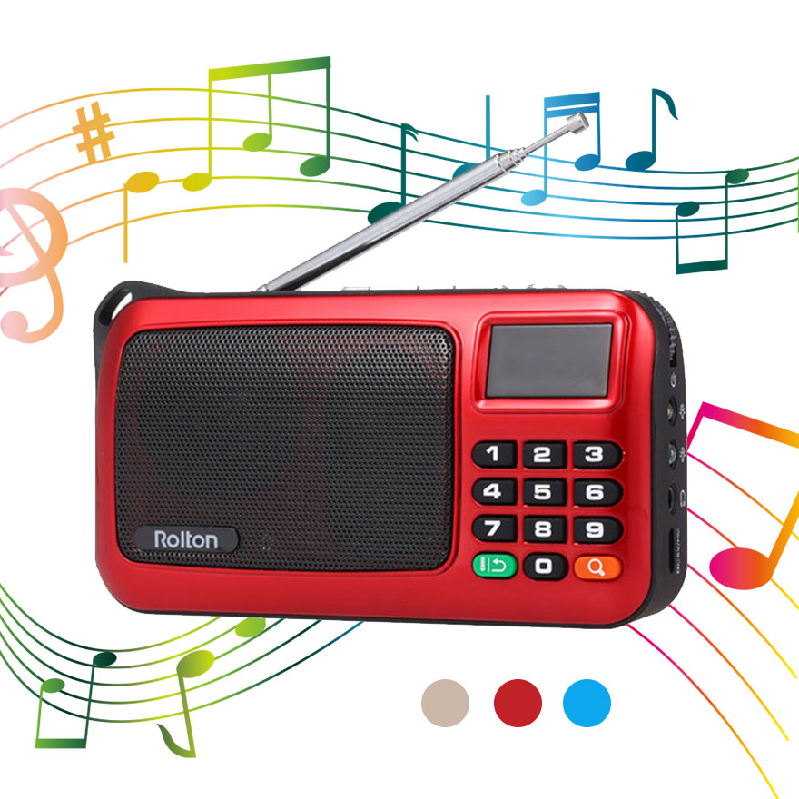 Portable Mini Radio FM Speaker USB Mp3 Music Player Support TF Card with LED Display HiFi Stereo Receiver Digital