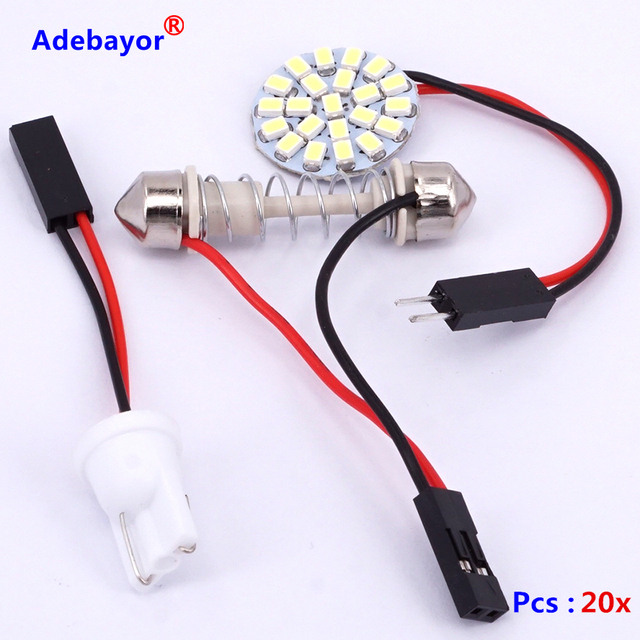 20xuniversal t10 socket 1206 smd 22 pcs led car interior ceiling rh aliexpress com