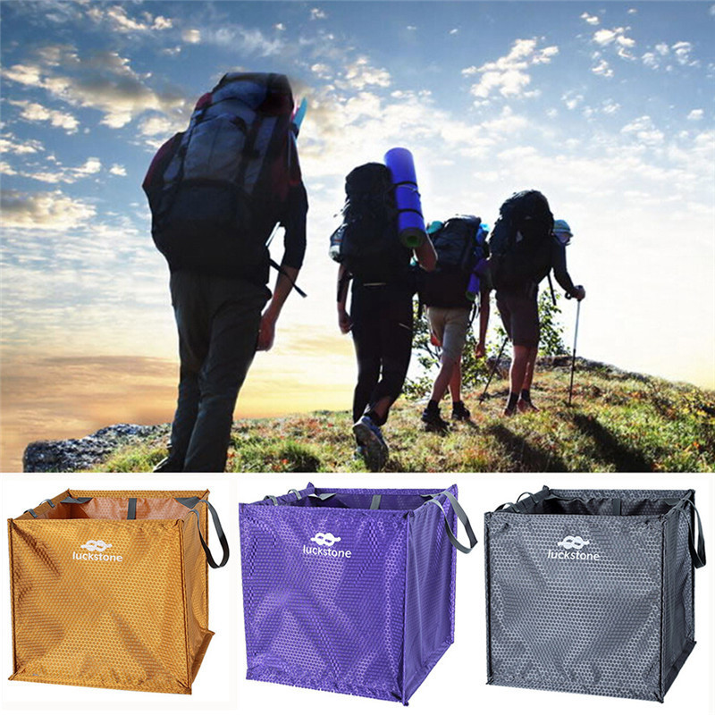 Hot Sale ! Outdoor Cube Shaped Throw Line Storage Bag Folding Triangle Climbing Tree Weight  Camping Hiking Pockets Multi tools hot sale c shaped waterfall acrylic occasional side table