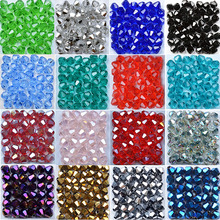 100pcs/Bag Grade AAA 4mm 5301 Seed Bicone Bead Wholesale 4 mm Roundlle Glass Crystal Beads 30 Color Pick
