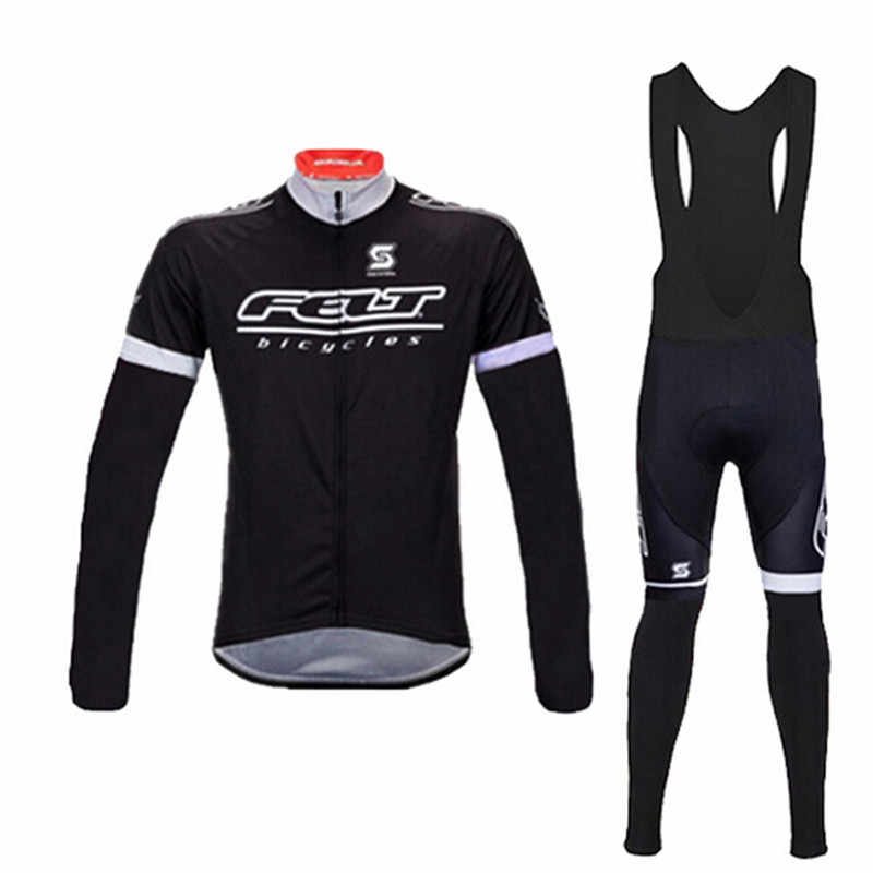 4f56435f6 Winter Thermal Fleece Cycling Jersey Felt Long Sleeve MTB men s cycling  Clothing Ropa Ciclismo Invierno