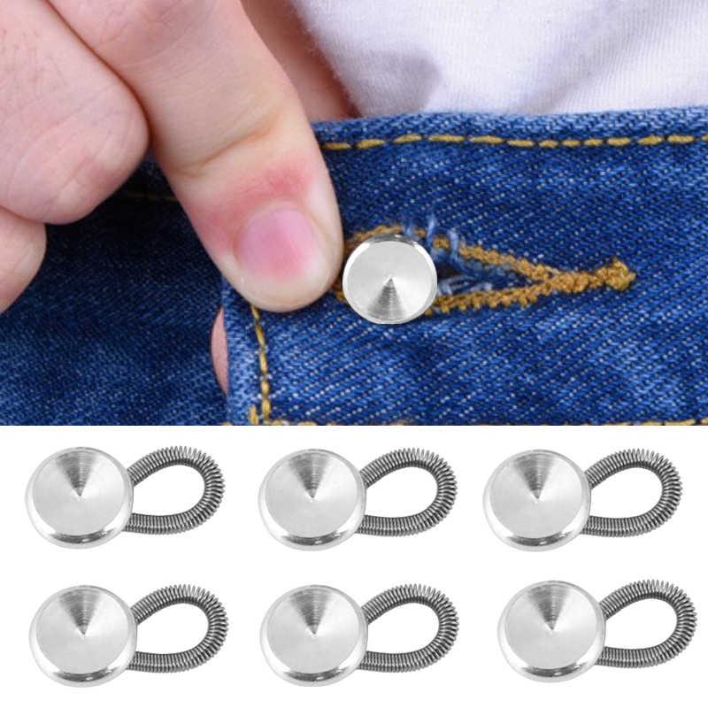 1 Pc/6 Pcs Kraag Extenders Metalen Knoppen Jeans Broek Taille Stretch Shirt Suit Tie Hals Expanders Flexibele Lock verlengen Gesp