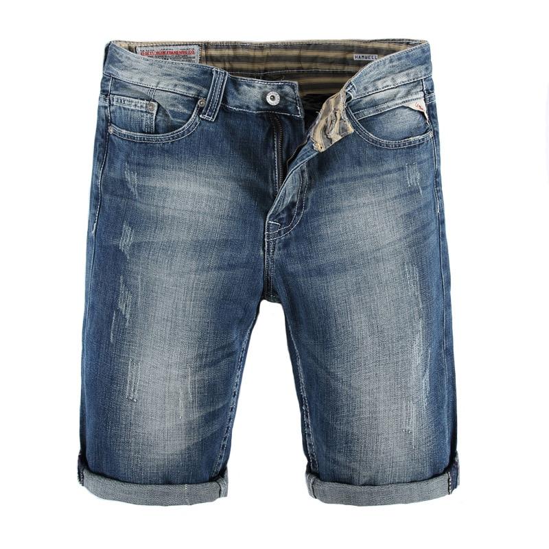 Summer Fashion Mens Jeans Shorts Latin Cow Brand Casual Denim Shorts Men Classic Youth Streetwear Scratch