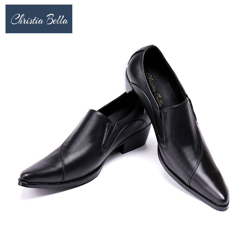 Christia Bella Genuine Leather Men Shoes Casual Business Dress Shoes Autumn Oxford Shoes for Men Slip on Bullock Shoes Men Flats new fashion autumn solid color men shoes leather low slip on men flats oxford shoes for men driving shoes size 38 44 yj a0020