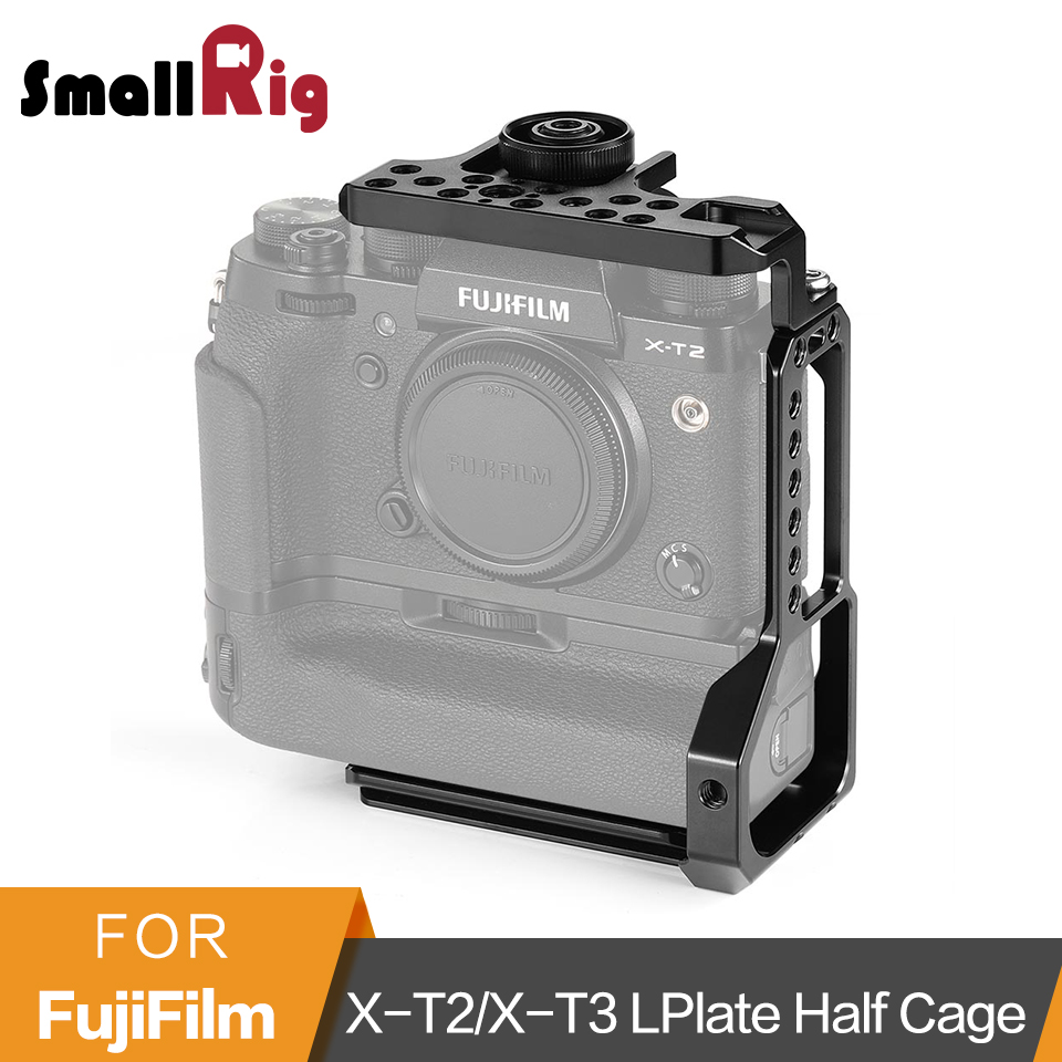 SmallRig X-T2 X-T3 L-Bracket With Top Plate Half Cage for Fujifilm X-T2 X-T3 Camera with Battery Grip Quick Release Cage-2282 SmallRig X-T2 X-T3 L-Bracket With Top Plate Half Cage for Fujifilm X-T2 X-T3 Camera with Battery Grip Quick Release Cage-2282