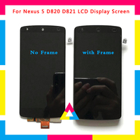 5pcs/lot LCD Display Screen With Touch Screen Digitizer Assembly For LG Google Nexus 5 D820 D821 Black No Frame or with Frame