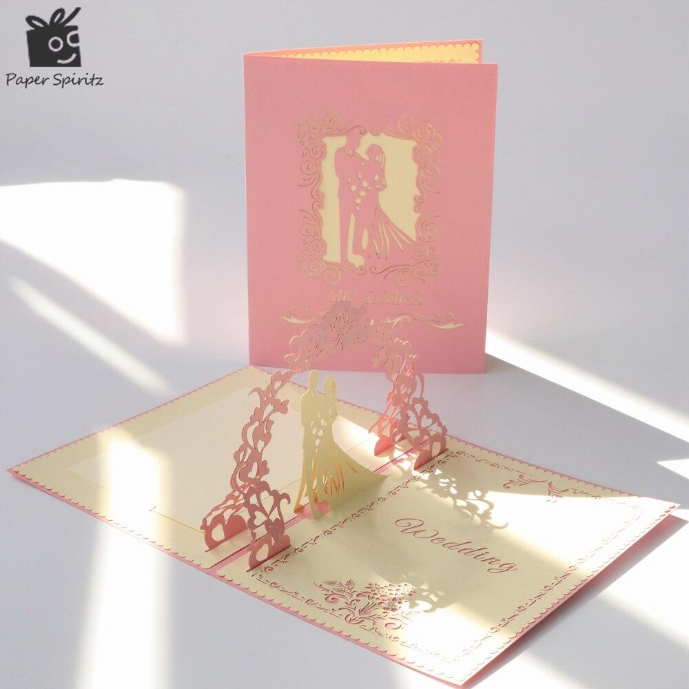 دعوات زفاف بطاقات الليزر قطع خطاباتخطابهزوجات تحية بطاقة 3D المنبثقة تخصيص دعوة شكرا لك كرت هدية مع مغلف 50 قطعة-في بطاقات ودعوات من المنزل والحديقة على  مجموعة 1