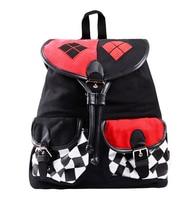 2016 Anime Batman Harley Quinn Cosplay Napsack Backpack School Bag For Costume Shouldbags Novel Beautiful Design For Girls Women