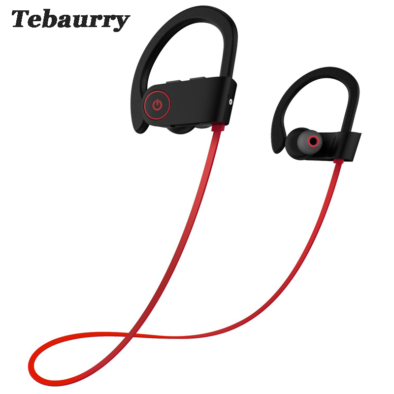Tebaurry Bluetooth Headphone Noise Canceling Headset Sport Wireless Bluetooth Earphone Bass auriculares With Mic for phone wireless bluetooth 4 0 sport headphone in ear earphones super bass music earbud for iphone sony z2 z3 sumsang s6 noise canceling