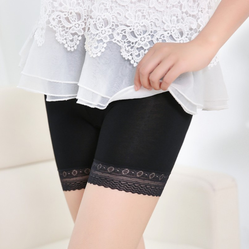 Feitong New Sexy Women Safety Short Pants Elastic Anti Chafing Lace Trousers Underwear Middle Waist Safety Short Pants New