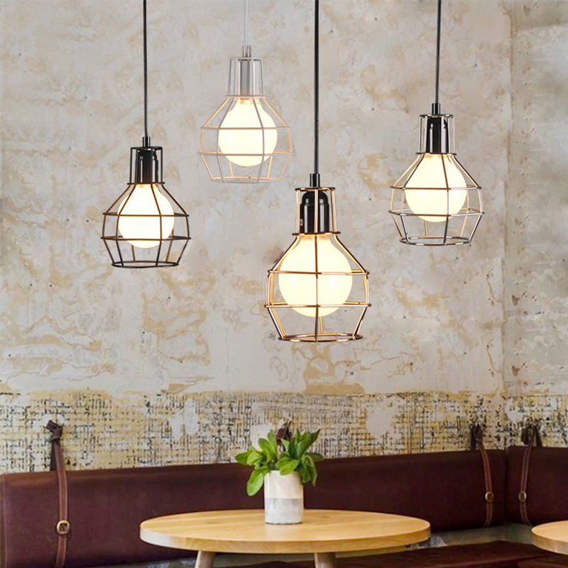 JAXLONG Pendant Lights Country Retro Industrial Wind hanging lamp Pendant Lamp Decor Dining Room Kitchen hanglamp lustre lights in Pendant Lights from Lights Lighting