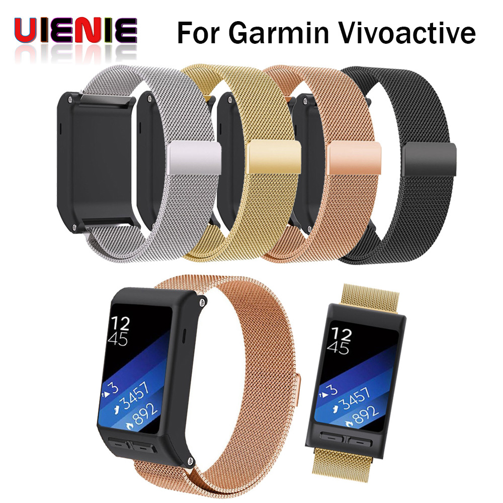 Arrival Milanese Magnetic Loop Stainless Steel Bands For Garmin Vivoactive HR Band Bracelet Strap Wristband Watch Banda Belt