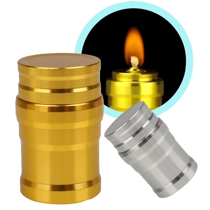 Metal Alcohol Burner Aluminum Case Lab Survival Outdoor Portable Alcohol Lamp