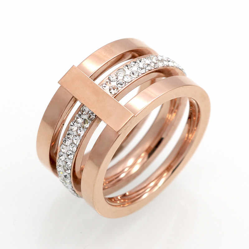 Fine Jewelry Men And Woman High Polished Signet Solid Stainless Steel Ring Biker Ring For Men And Woman Gold Colour Jewelry