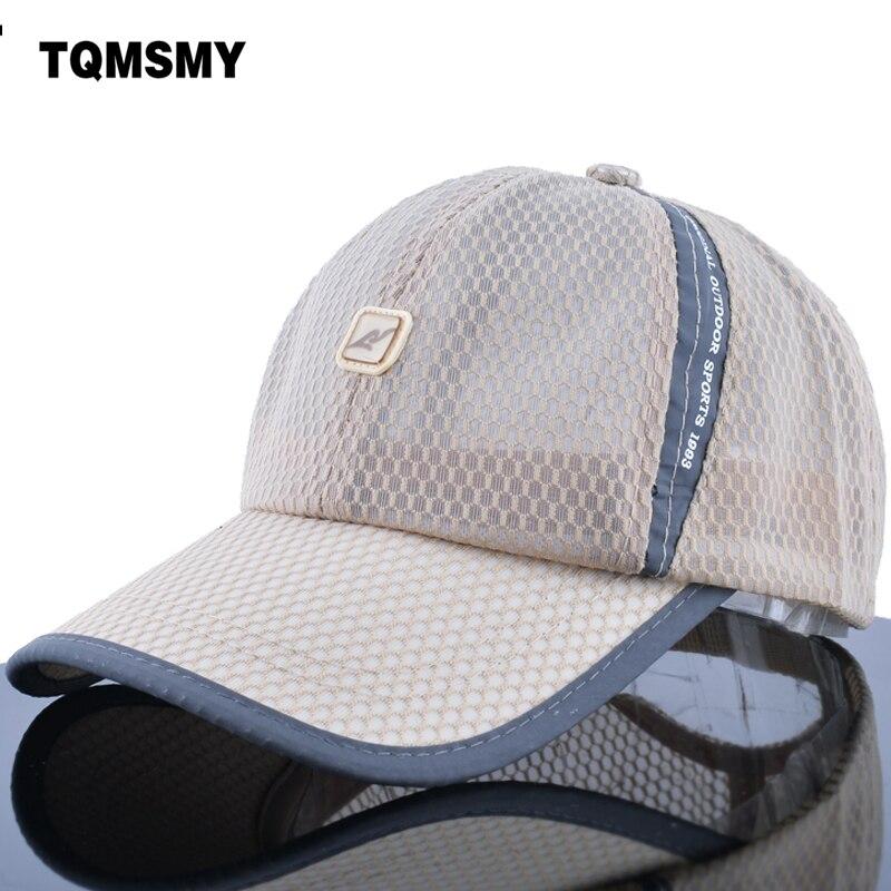TQMSMY suchá rychle prodyšná síťovaná čepice beisbol pevná čepice pánská dámská čepice sluneční clona snapback nastavitelná gorras TMWL06