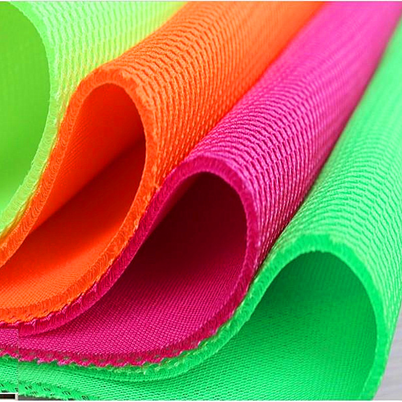 3D Air Spacer Sandwich Mesh Tyger PET Hygrolon Heavy Seat Cover Mjukt tjock andningsskyddad Sport Wear 155CM Wide 230g / M2 3mm Tjock