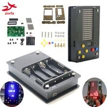 Electronic DIY Kit 8x16 Dot matrix game machine with Acrylic Diy Kit El