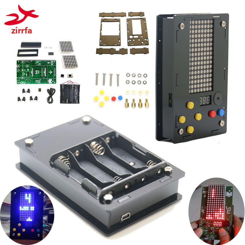 Electronic DIY Kit 8x16 Dot Matrix Game Machine With Acrylic Diy Kit Electronic
