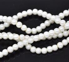 Perle tonde imitazione perla vetro avorio diametro 4mm. 32-1/4