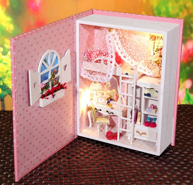 B004 Hongda diy dollhouse voice light wooden doll house Diary form bedroom  miniature Christmas gifts for. Compare Prices on Bedroom Houses  Online Shopping Buy Low Price