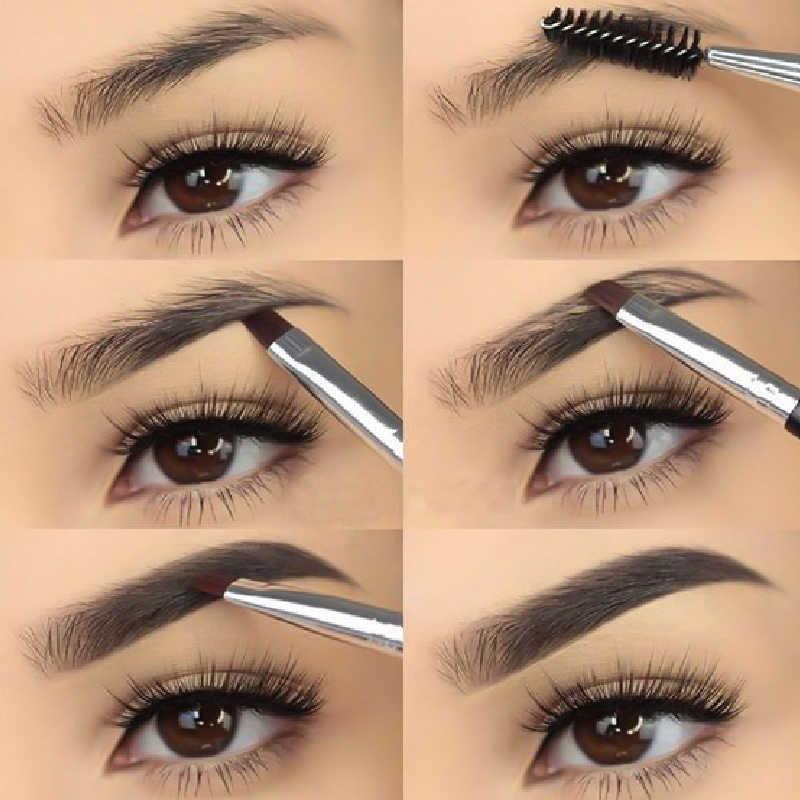 AIKIMUSE Eye Eyebrow Gel Perfect Eyebrow shades Black Brown Tinted Eyebrow  Makeup Gel Lasting Eyebrow Pencil makeup brushes