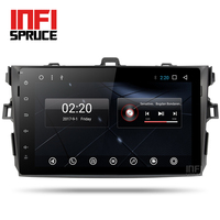 Android 7.1 coches reproductor de dvd para Toyota Corolla de Ocho Núcleos 9 pulgadas 1024*600 de pantalla car stereo radio navegación gps de vídeo jugador