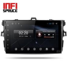 Новый Android 7.1 Автомобильный DVD плеер для Toyota Corolla восемь основных 9 дюймов 1024*600 экран стерео GPS-навигации DVD видео плеер